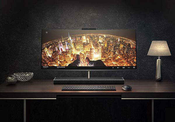 HP Envy Curved All-In-One Computer with Amazon Alexa