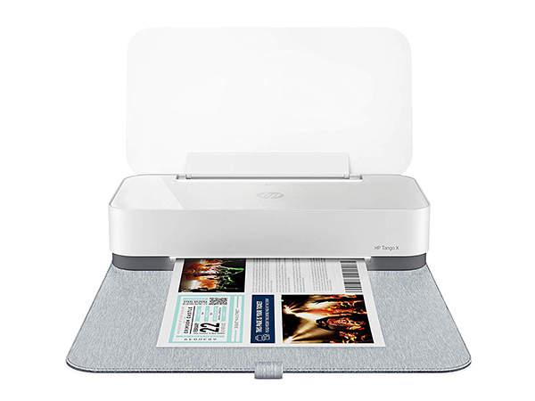 HP Tango X Smart Home Printer with Indigo Linen Cover