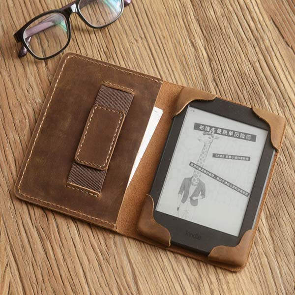 K01 Handmade Personalized Leather Kindle Paperwhite Case
