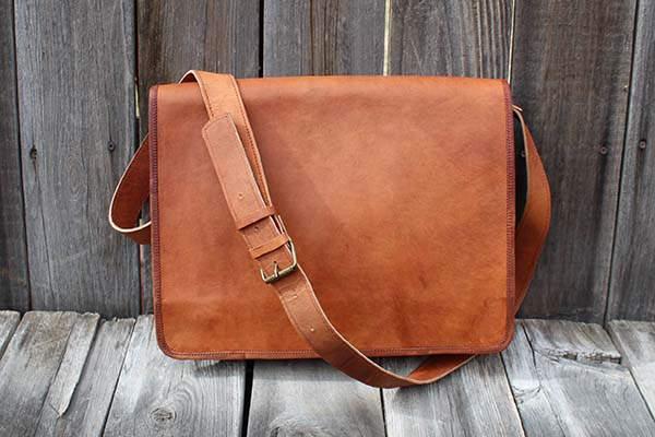 Kodiak Handmade Leather Messenger Bag