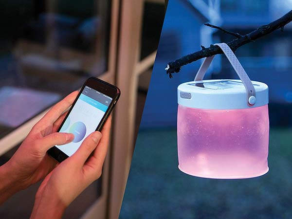 Luci Connect Collapsible Solar-Powered LED Lantern