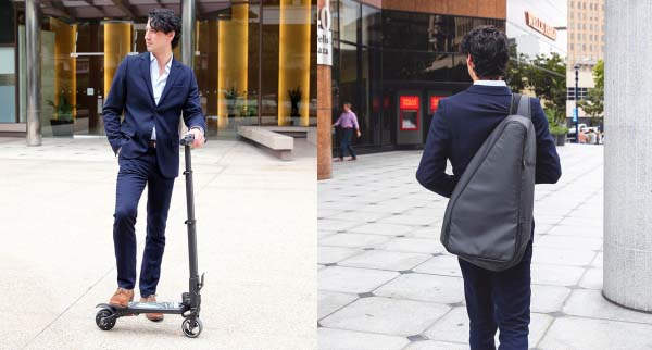 MiniFalcon Foldable Electric Scooter Fits in a Backpack