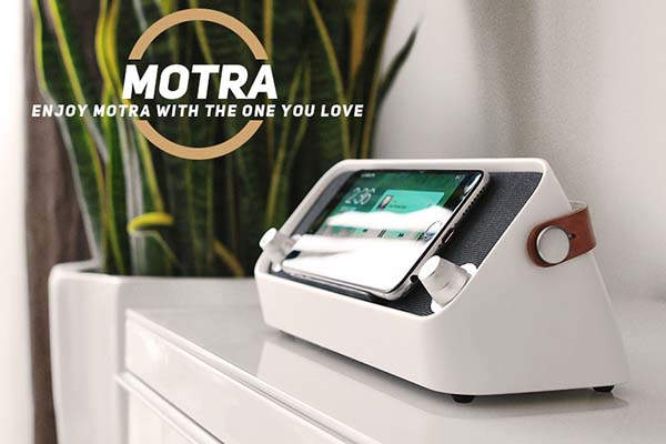 MoTra Portable Bluetooth Speaker with Wireless Charger