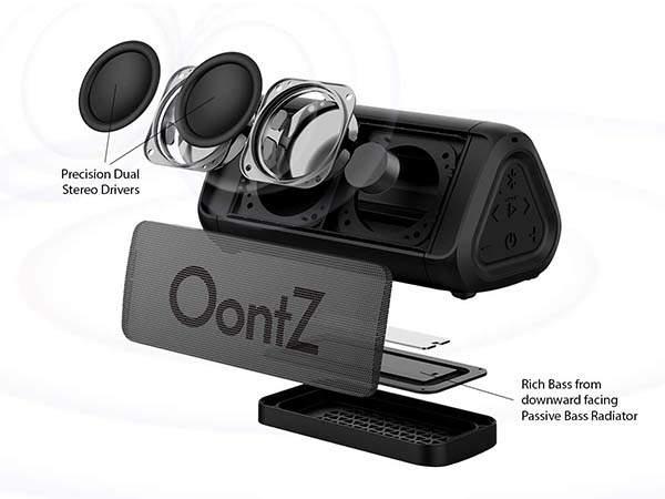 OontZ Angle 3 RainDance Waterproof Portable Bluetooth Speaker