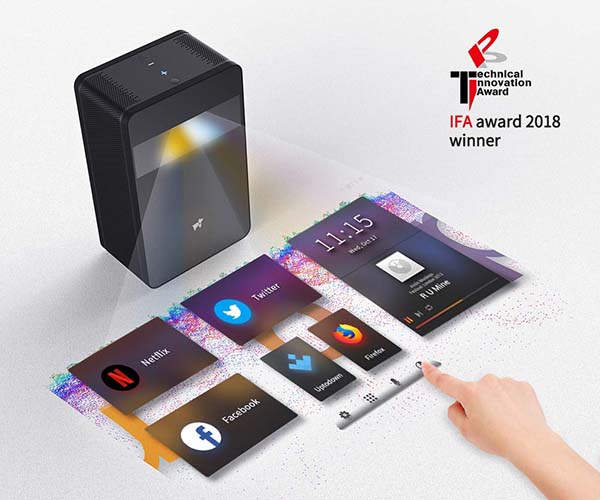 Puppy Cube Touchscreen Android Projector