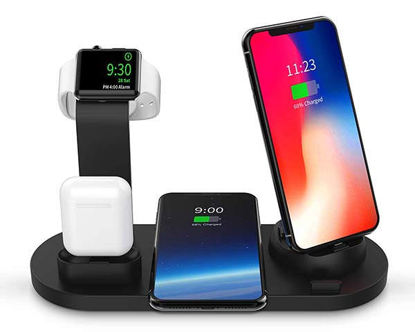 Sodysnay 4-In-1 Wireless Charging Station