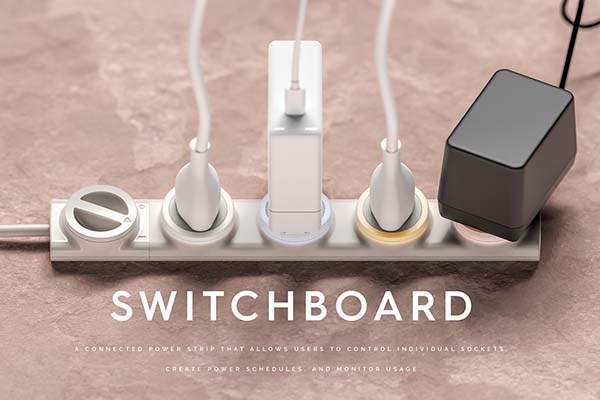 Switchboard Smart Power Strip with Rotatable Outlets