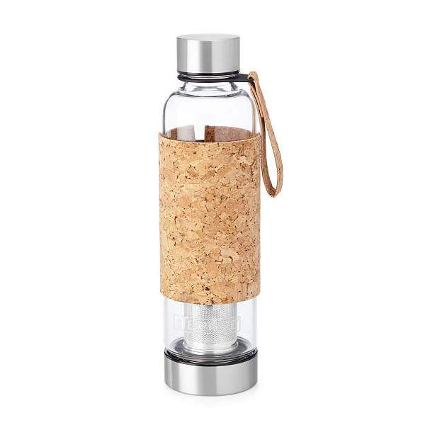 The Portable Tea Infuser Bottle with Cork Sleeve