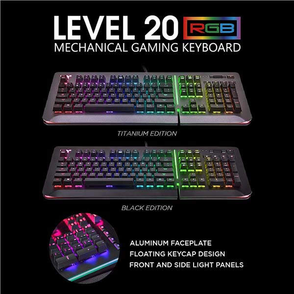 Thermaltake Level 20 RGB Mechanical Gaming Keyboard with Alexa Voice Control