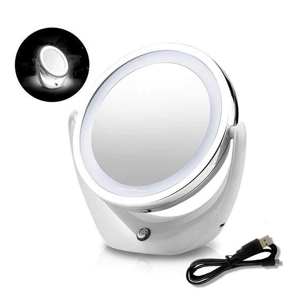 TOUCHBeauty Led Makeup Mirror with 360-Degree Rotation