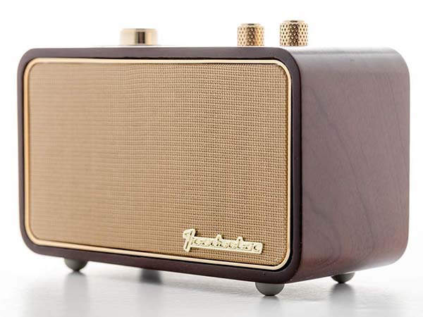 Trenbader Artlink Retro Wooden Bluetooth Speaker with FM AM Radio