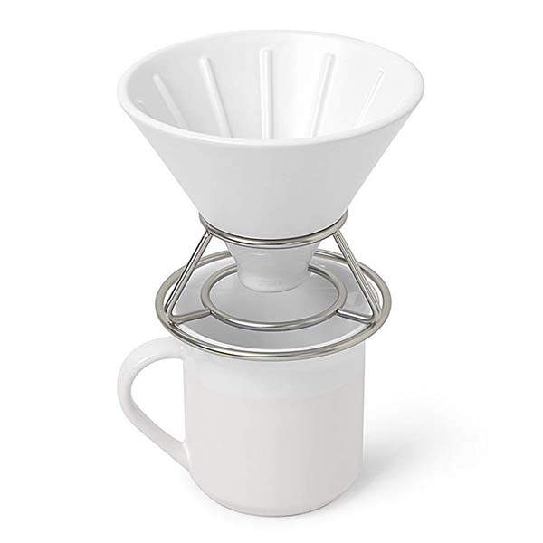Umbra Perk Ceramic Pour Over Coffee Dripper Set