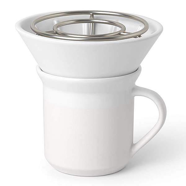 Umbra Perk Ceramic Pour Over Coffee Dripper Set