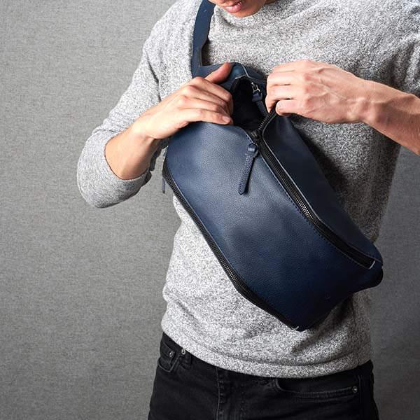 Fenek Handmade Personalized Leather Sling Backpack
