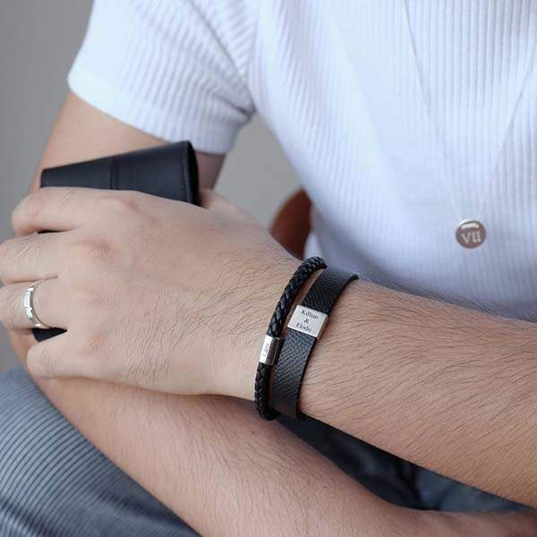The Handmade Personalized Leather Bracelet