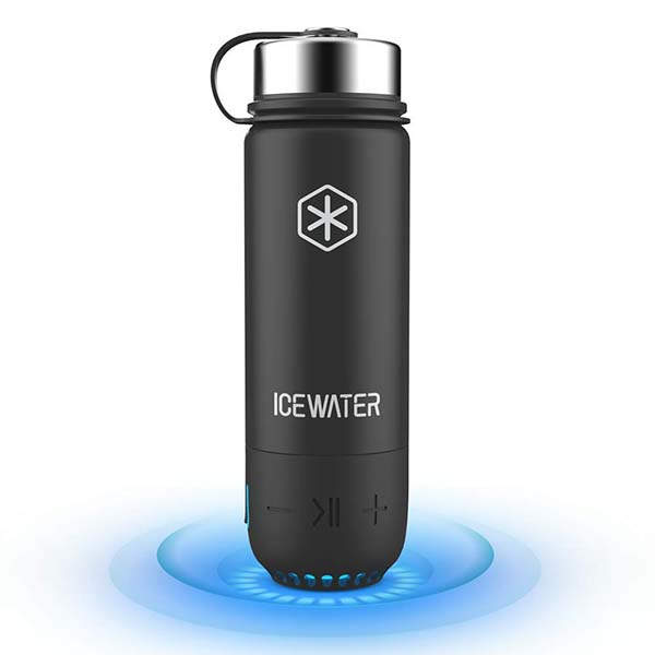 Icewater 3-In-1 Smart Stainless Steel Water Bottle with Bluetooth Speaker