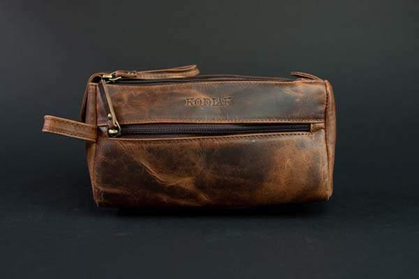 Kodiak Handmade Leather Toiletry Bag