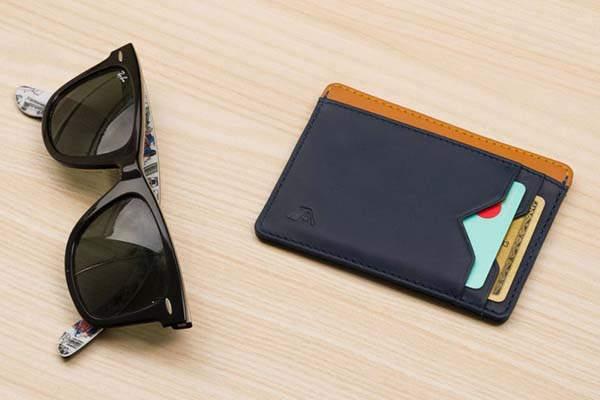 Kumo Handmade Slim Leather RFID Card Wallet