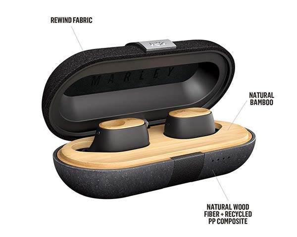 Liberate Air Water-Resistant True Wireless Earbuds with Bamboo Accents