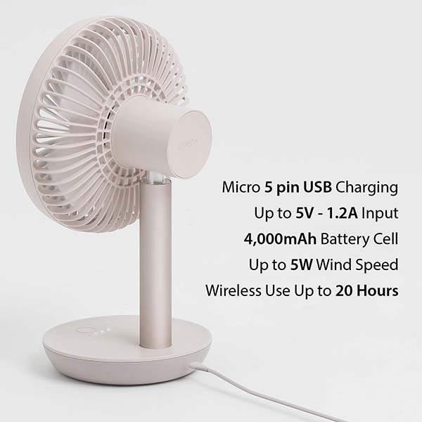 Lumena N9-Stand2 Wireless Desk Fan