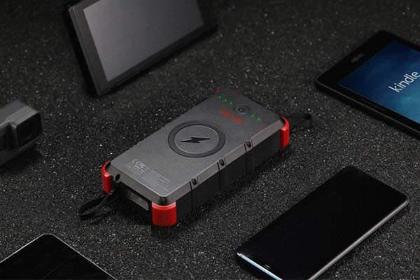 Outxe W20 IP67 Waterproof Wireless Solar Power Bank