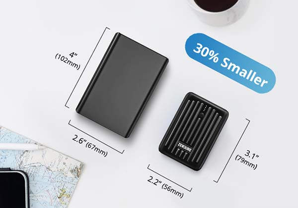 SuperMini Credit Card Size Power Bank with 18W Power Delivery