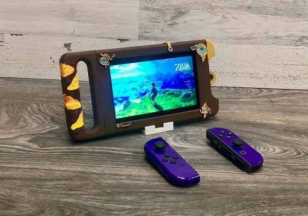 3D Printed Sheikah Slate Shaped Nintendo Switch Case