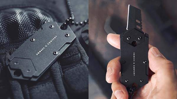 B-2 Dog Tag Full Concealed Nano Blade Tactical Pocket Knife