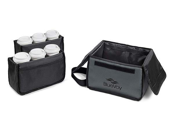 BlueVoy Reusable Drink Carrier Bag with Handle and Removable Dividers