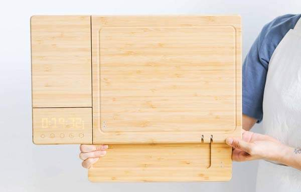 ChopBox Smart Cutting Board with Knife Sharpeners, Digital Timer and More