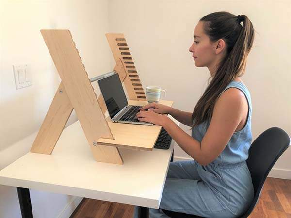 Handmade Alto X Wooden Sit and Stand Desk
