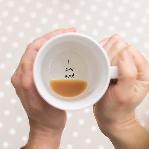 Handmade I Love You Coffee Mug