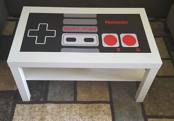 Handmade Nintendo NES Controller Coffee Table