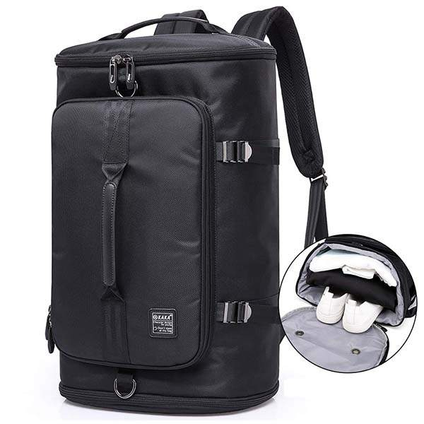 KAKA Travel Duffel Backpack with Shoe Compartment