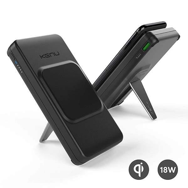 Kenu BingeBank Qi Wireless Power Bank with Phone Stand