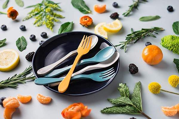 Knork Eco Plant-Based Spoon and Fork Set