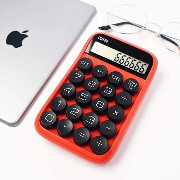 Lofree Jelly Bean Mechanical Digital Calculator