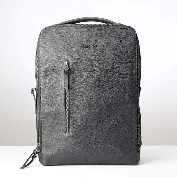 Saola Handmade Personalized Leather Tech Backpack