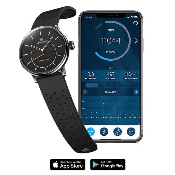 SuperCharger2 Self Charging Smartwatch with Heart Rate Monitor