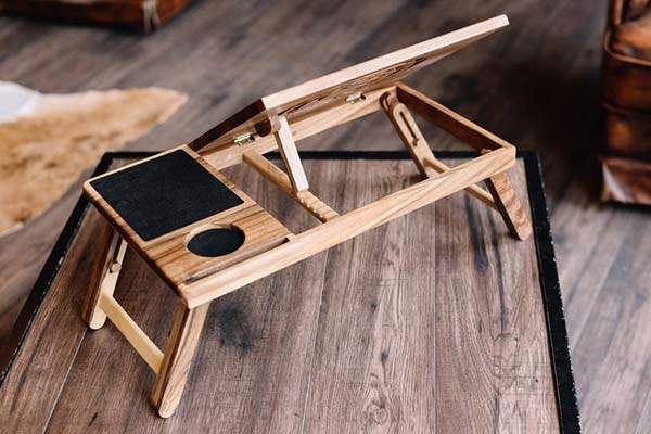 WoodShade Handmade Personalized Wooden Stand Up Desk