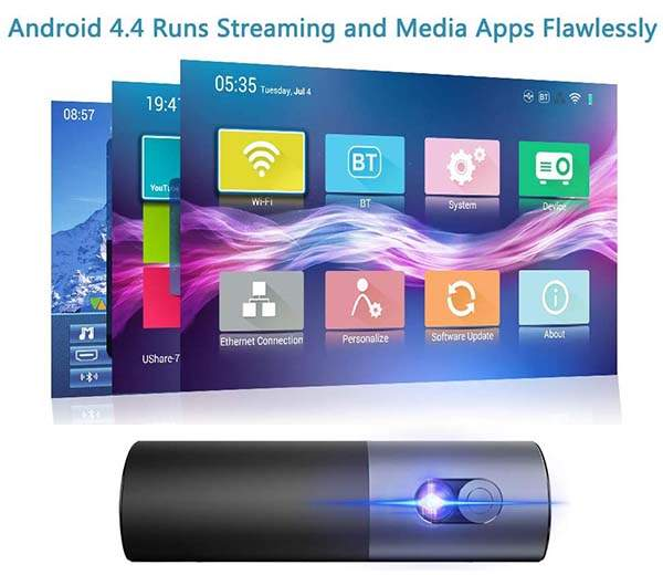 WOWOTO P5 Portable Android Smart Projector