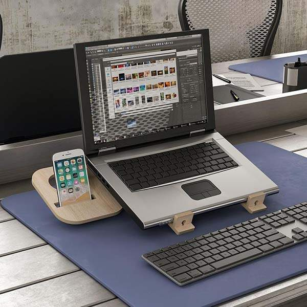 Zoed Plus Handmade Wooden Laptop Stand