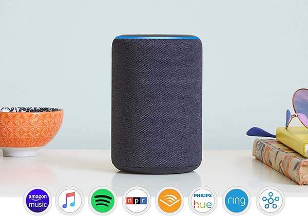 Amazon All-New Echo Smart Speaker with Alexa and 360-Degree Audio