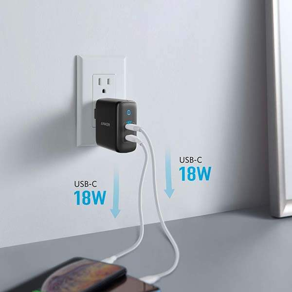 Anker PowerPort III Duo USB-C Wall Charger with PowerIQ 3.0