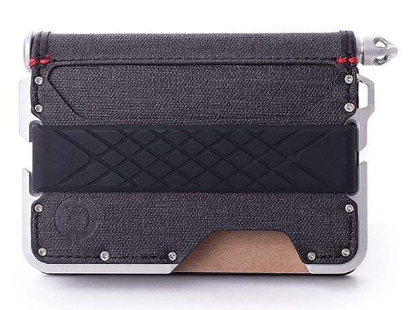 Dango D01 Dapper Bifold Card Wallet with RFID Blocking, Aluminum Pen and Notebook