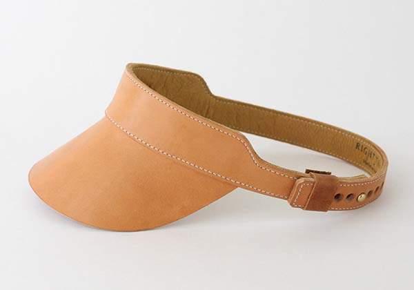 Handmade Natural Vegetable Tanned Leather Visor