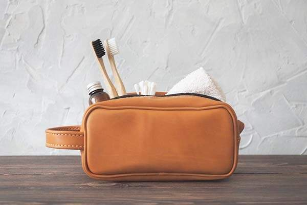 Handmade Personalized Leather Toiletry Bag