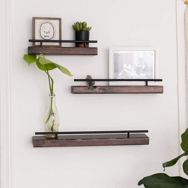Handmade Rustic Floating Wooden Wall Shelf