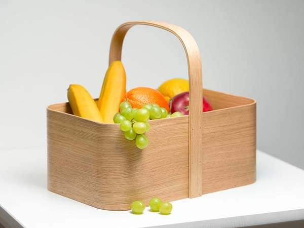 Handmade Wooden Picnic Basket for Multipurpose Use