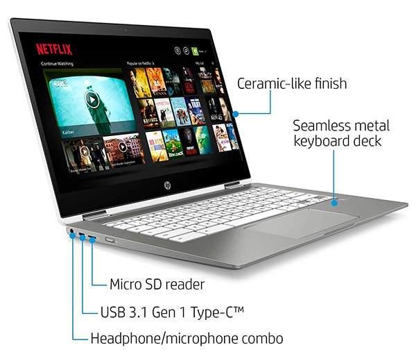 HP X360 Convertible Touchscreen Chromebook